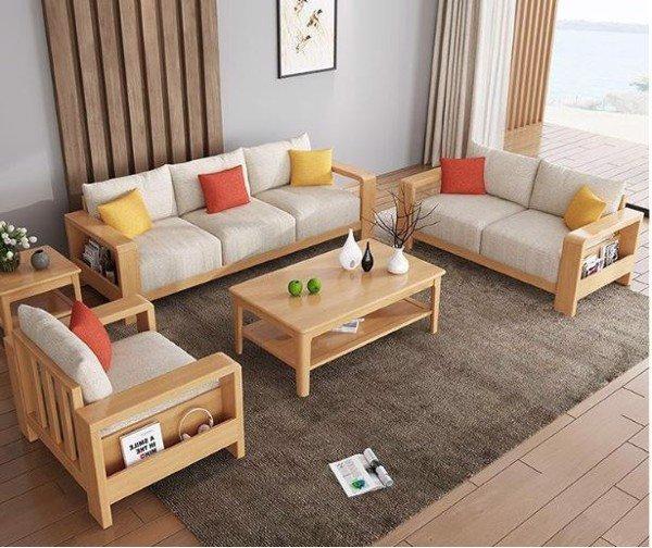 Mẫu bàn ghế làm từ phôi gỗ cao su đã tẩm sấy đúng quy trình