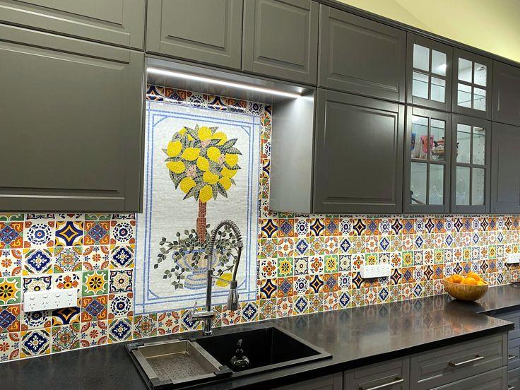 Moroccan Lemon Tree Mosaic kitchen tile, Mozaico