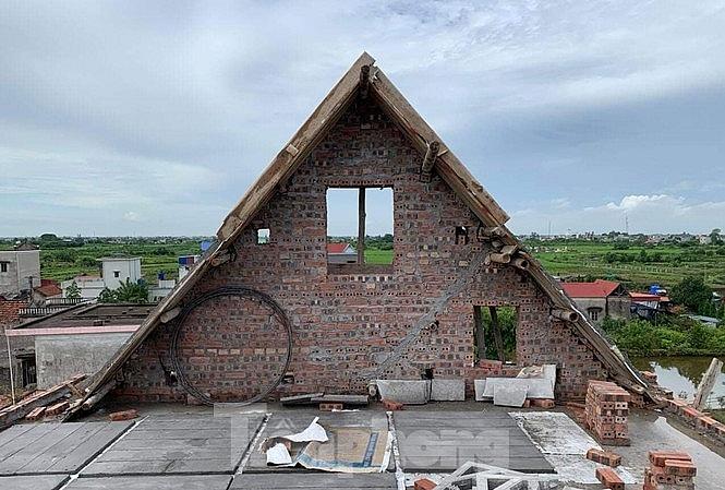 Thái Bình: Sập mái nhà đang thi công, 2 thợ xây tử vong - Ảnh 1