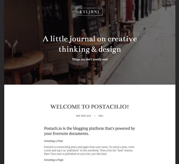 блог на Postach.io