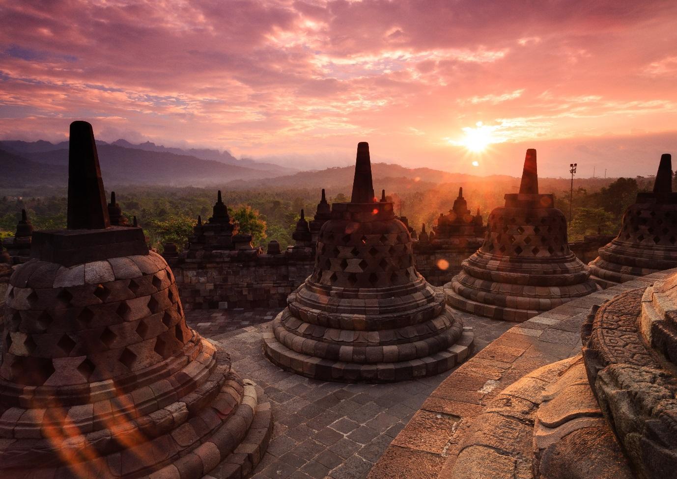 Candi Borobudur salah satu destinasi wisata seru di Jogja