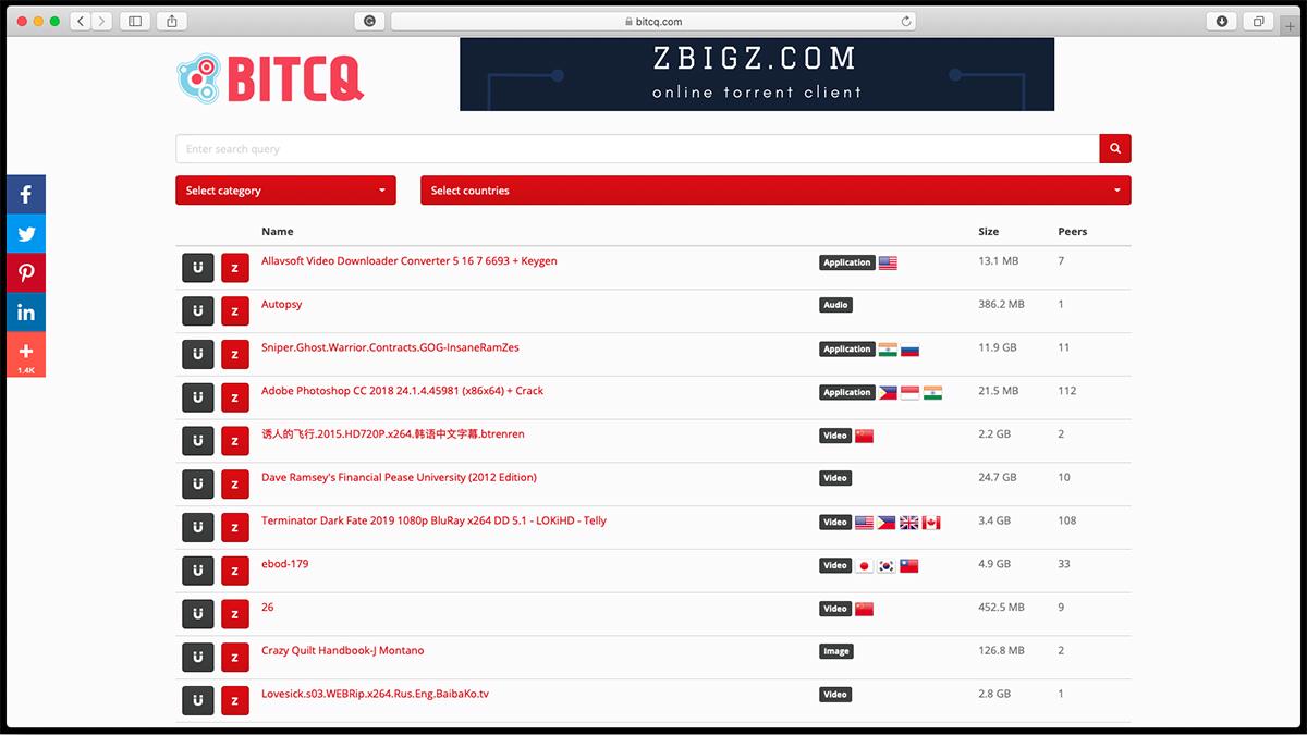 BITCQ Torrent Website