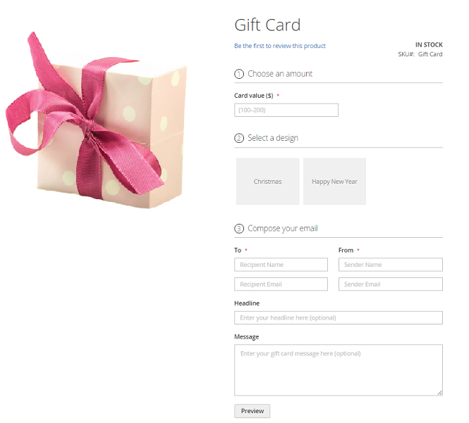 Gift Card Magento 2 Extension by aheadWorks Magento 2 extension