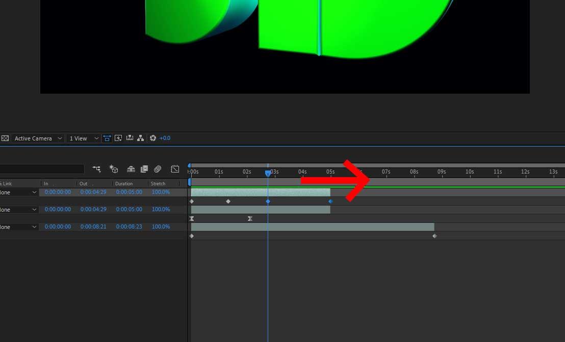 adjusting the keyframes with time remap