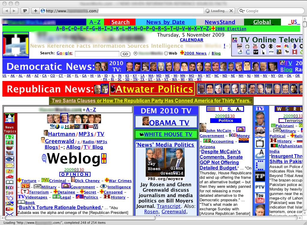 Overwhelming website