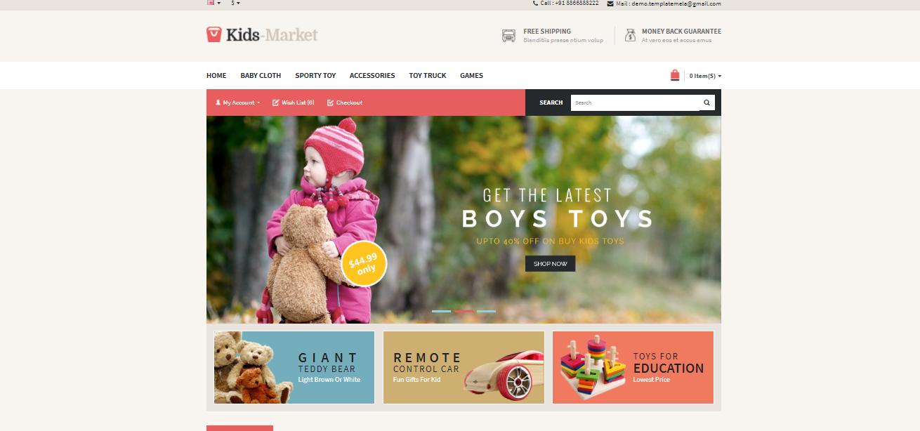 Kids Market - Opencart ecommerce theme
