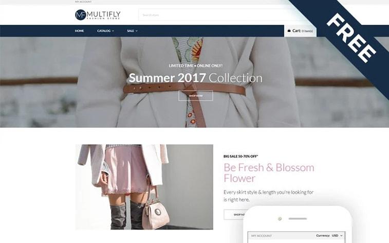 лучший бесплатный ботстрап тема шаблон веб-сайт модная одежда женская интернет-магазин