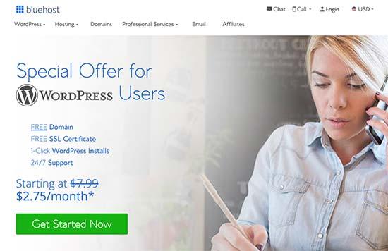 Tạo website WordPress trên Bluehost