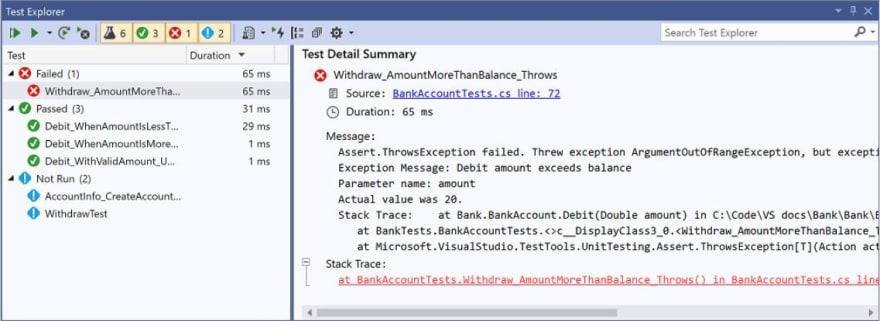 Microsoft Testing Framework