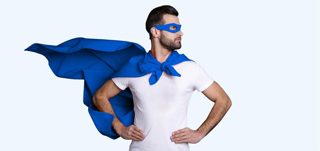 Fazer a pose do super herói
