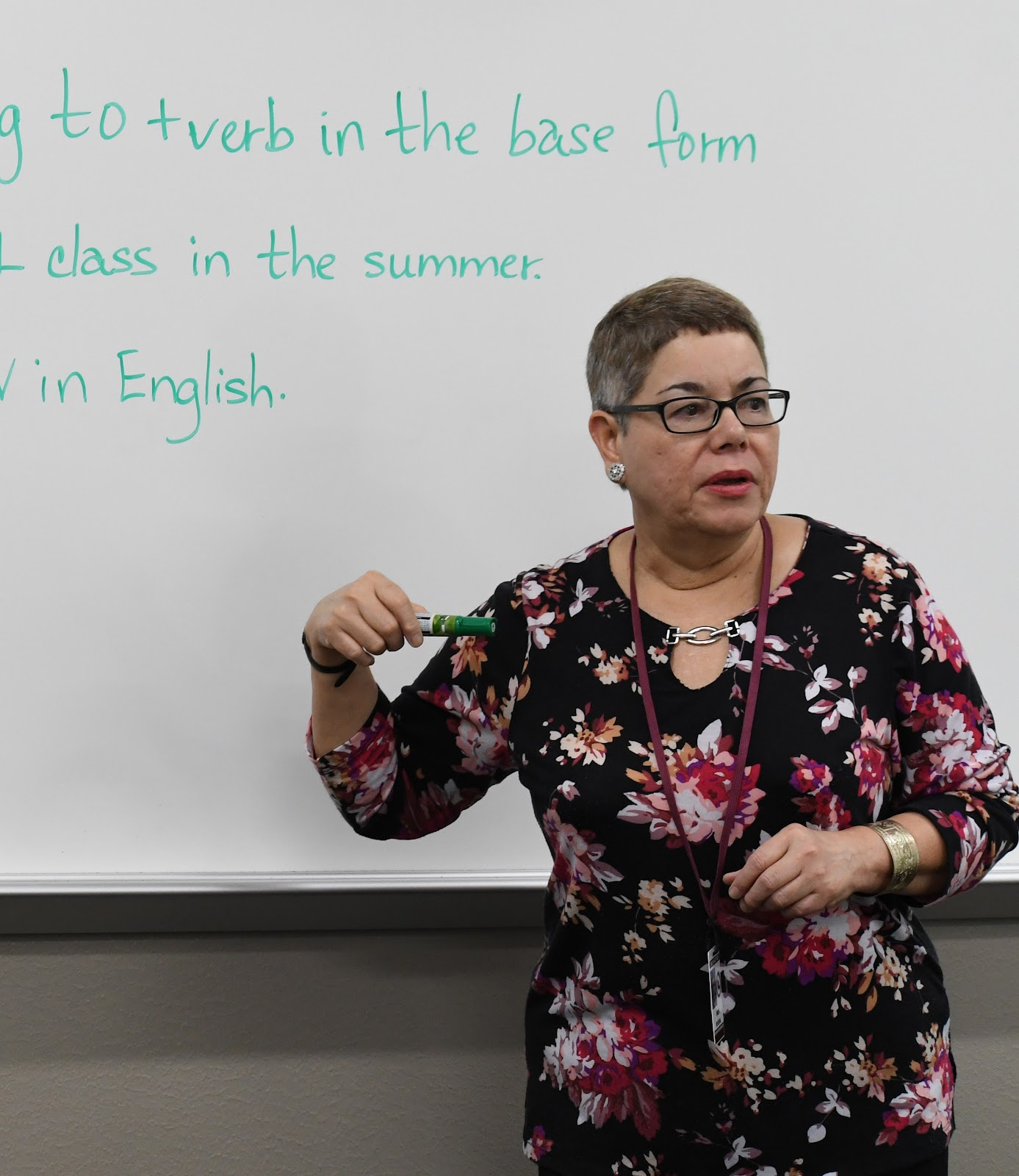 In photo: ESL Instructor Ines Rivera-Silva