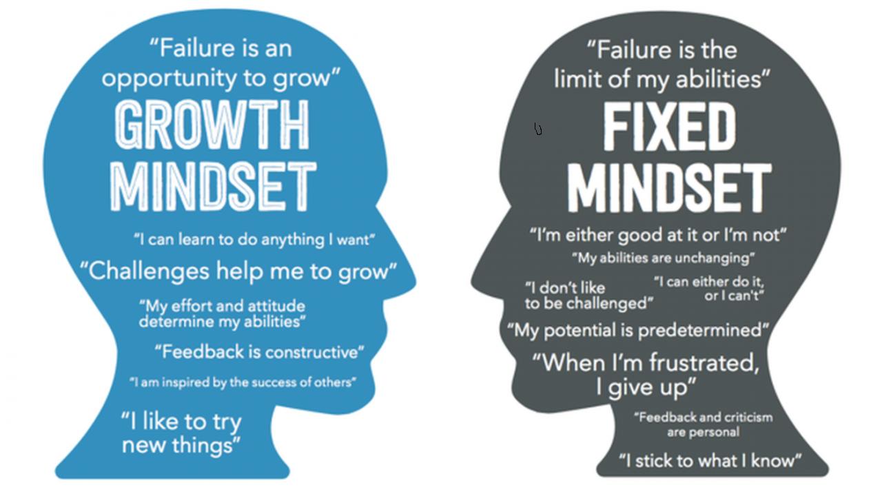 growth mindset, fixed mindset, success