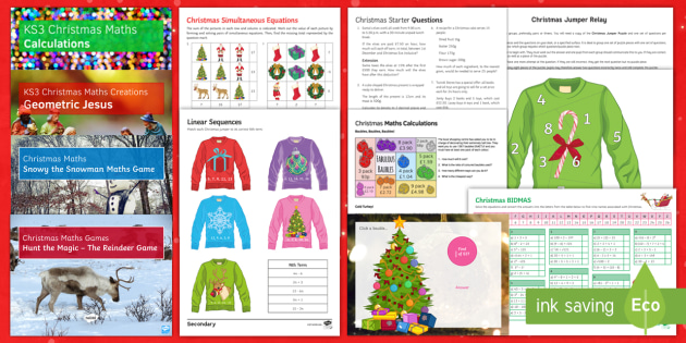 Christmas Maths Activities: Differentiated Lesson Pack