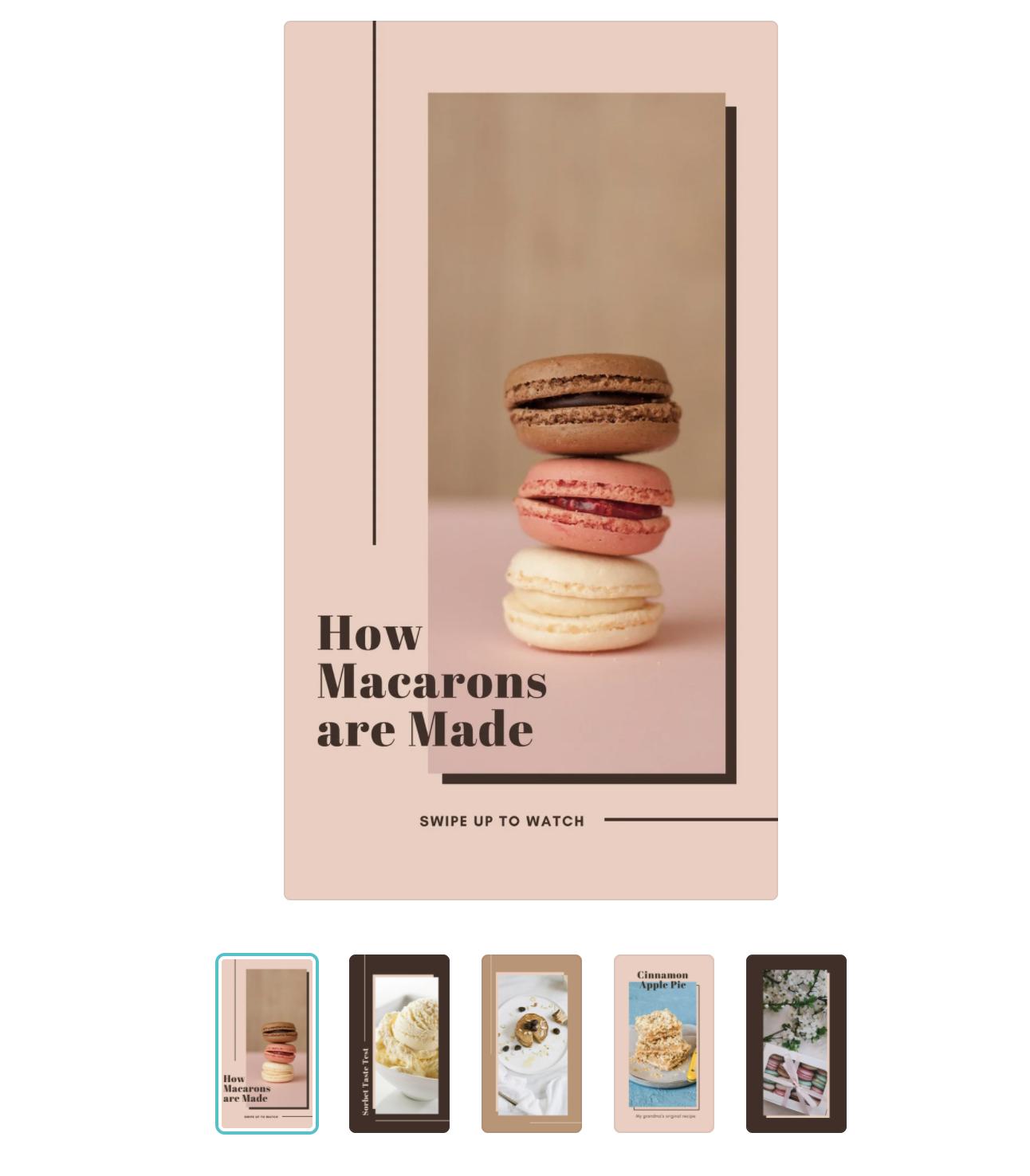 Canva Food Influencer Instagram Stories Template