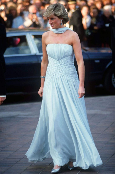 Blue gown by Princess Diana