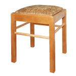 Деревянный табурет с мягким сиденьем