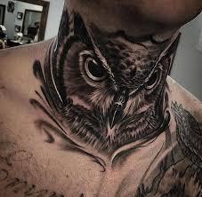 Eagle Neck Tattoo Designs For Boys
