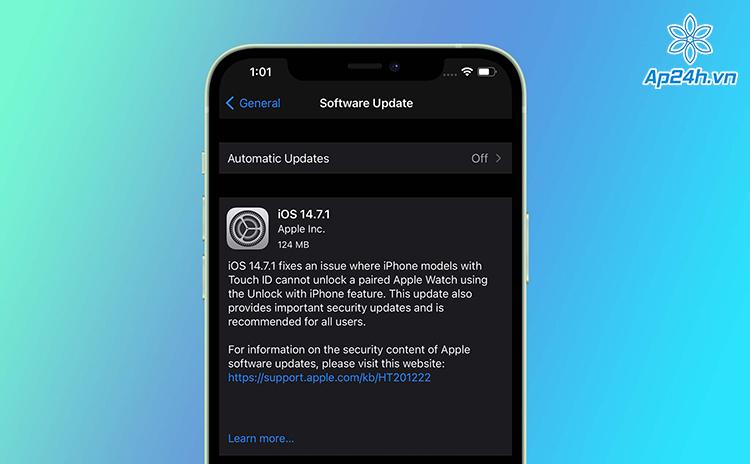 Bản cập nhật iOS 14.7.1 hiện có sẵn trong Cài đặt