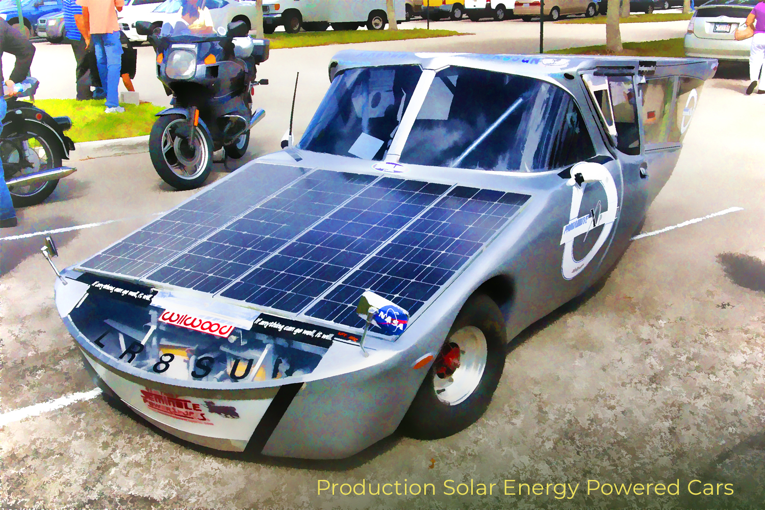 production solar energy powered cars