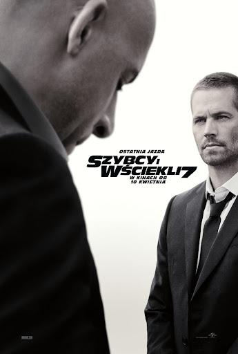 Polski plakat filmu 'Szybcy i Wściekli 7'