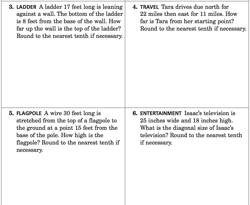 lesson 6 problem solving practice Tuesday 5/17