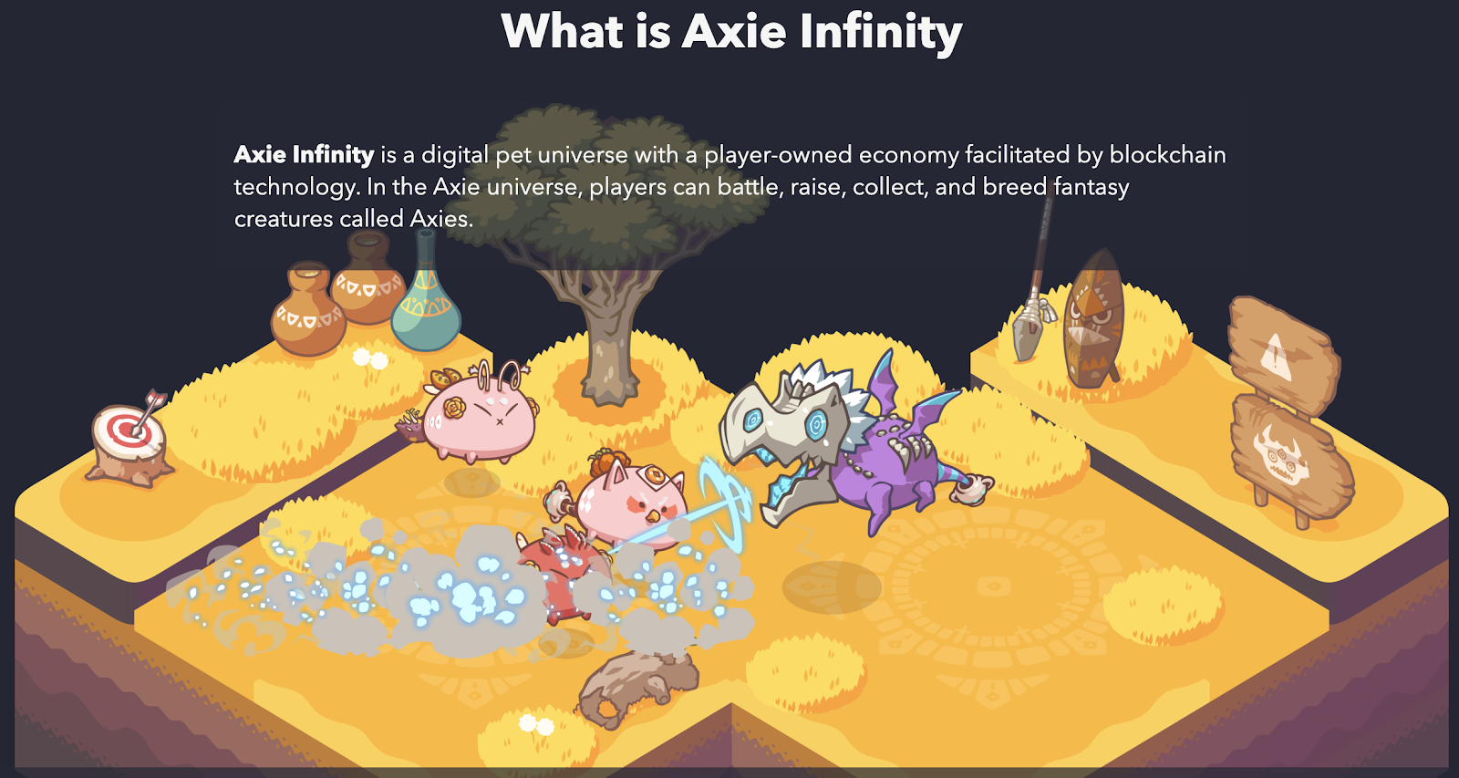 "As part of the Dai Gaming Initiative, Axie Infinity features a ""mini"" version of Dai that players of PvP games can find randomly."