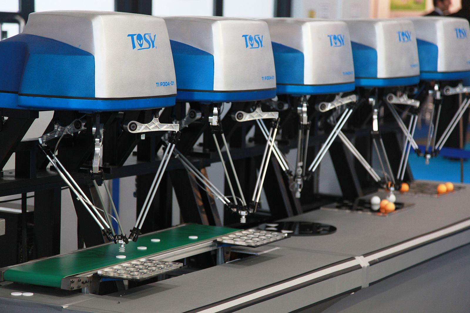 Pick and place machines are an example of physical robotic process automation