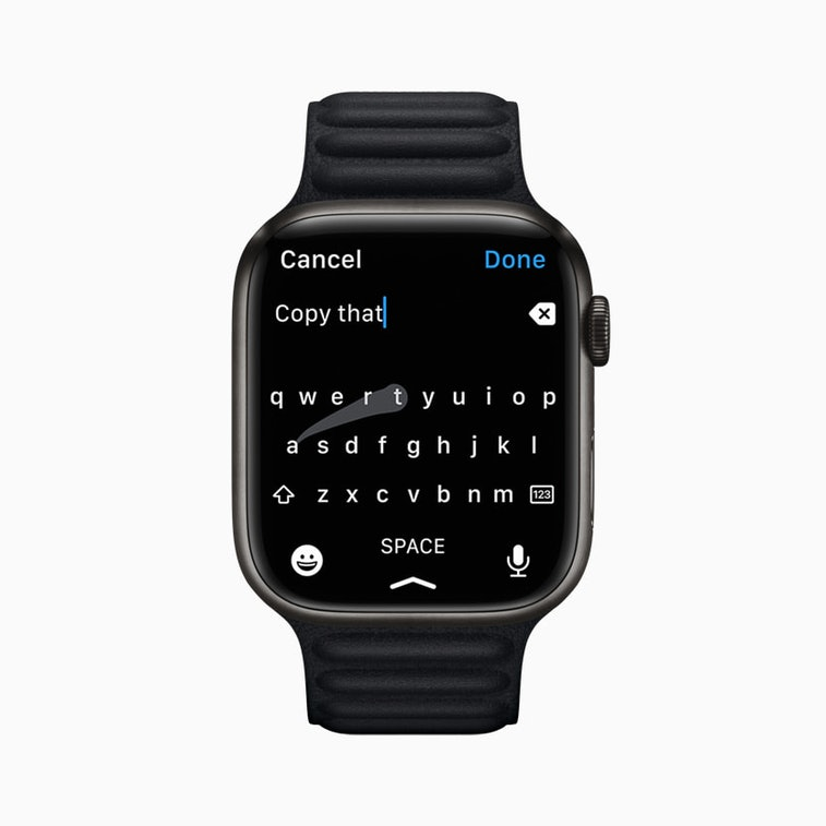Apple's next version of watchOS includes a full keyboard.
