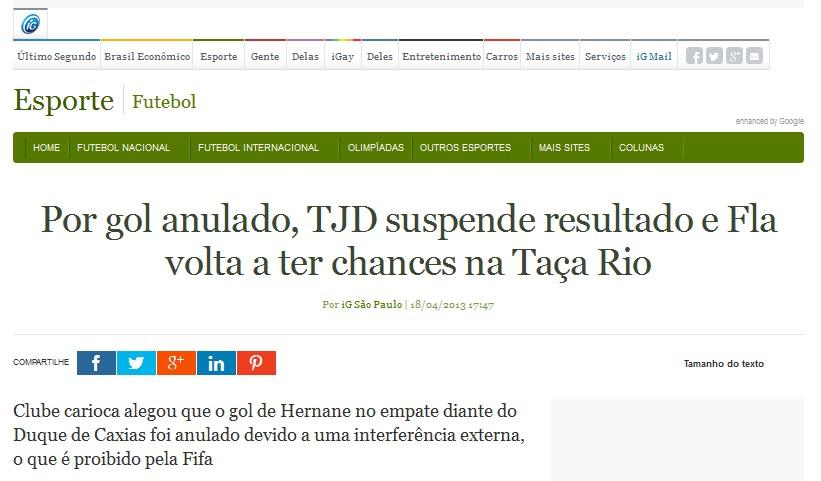 Contra o Flamengo, não pode. A favor, adoram