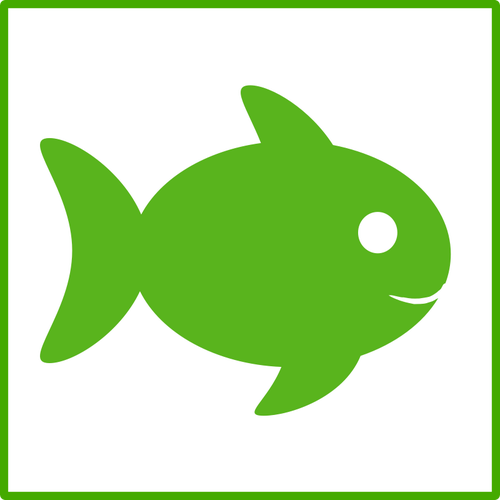 Eco fish vector icon