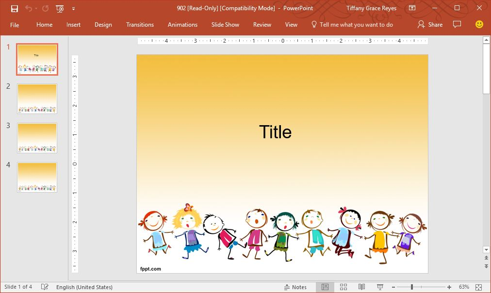 children-powerpoint-template
