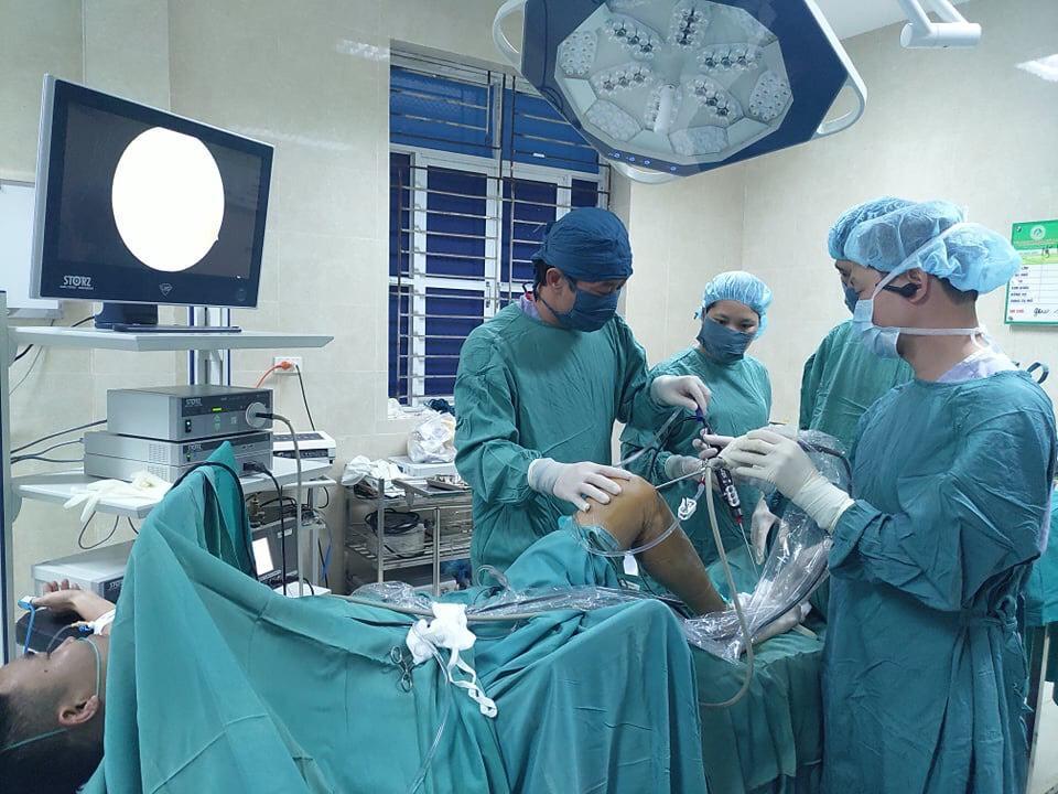 Phẫu thuật nội soi khớp gối tại trung tâm y tế huyện Cẩm Khê