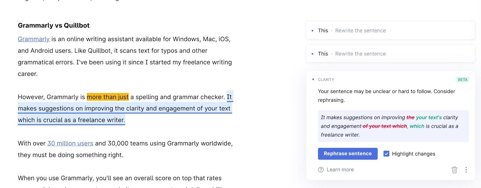 Grammarly Vs Quillbot
