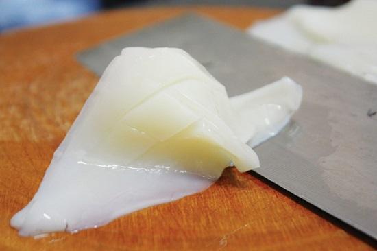 nguyên liệu làm mực chiên bơ