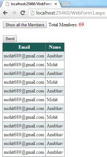 Send Bulk Email from Yahoo and Hotmail Using ASP.NET