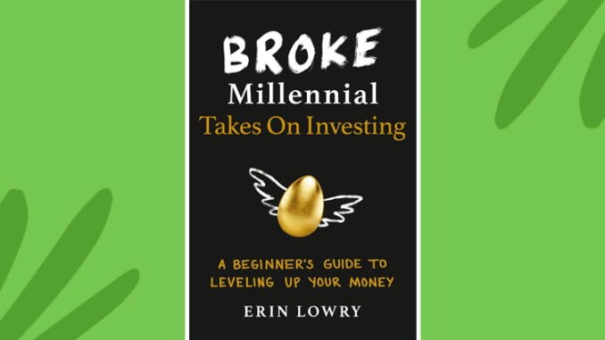 Broke Millennial يأخذ على غلاف كتاب الاستثمار