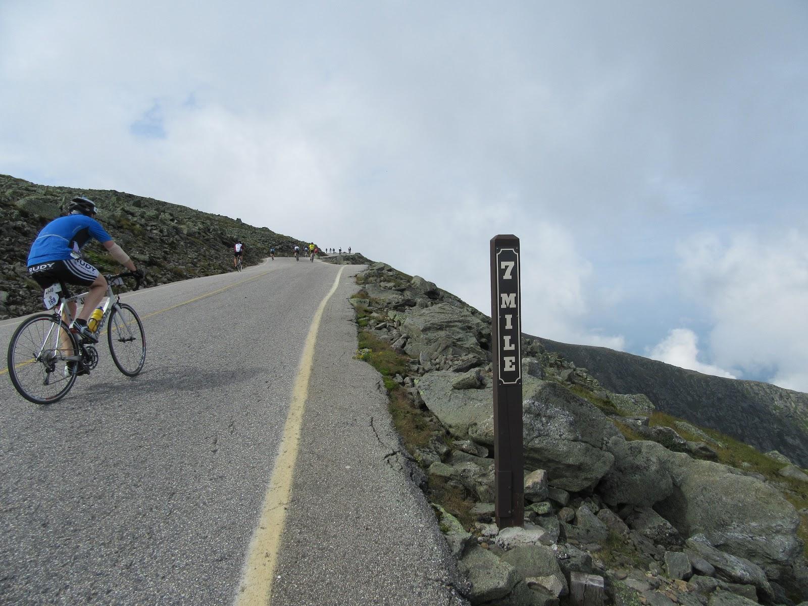Racing Mt. Washington Auto Road - 7 mile marker