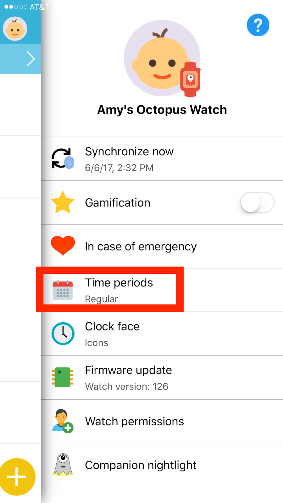 Octopus Watch App: time periods