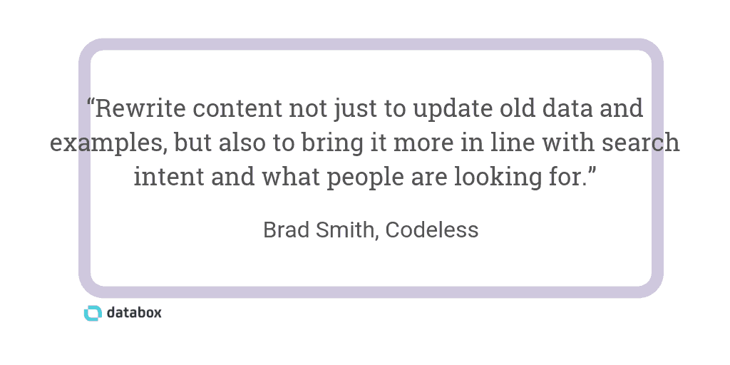 Rewrite old content for SEO