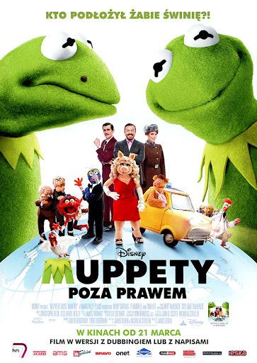 Przód ulotki filmu 'Muppety - Poza Prawem'