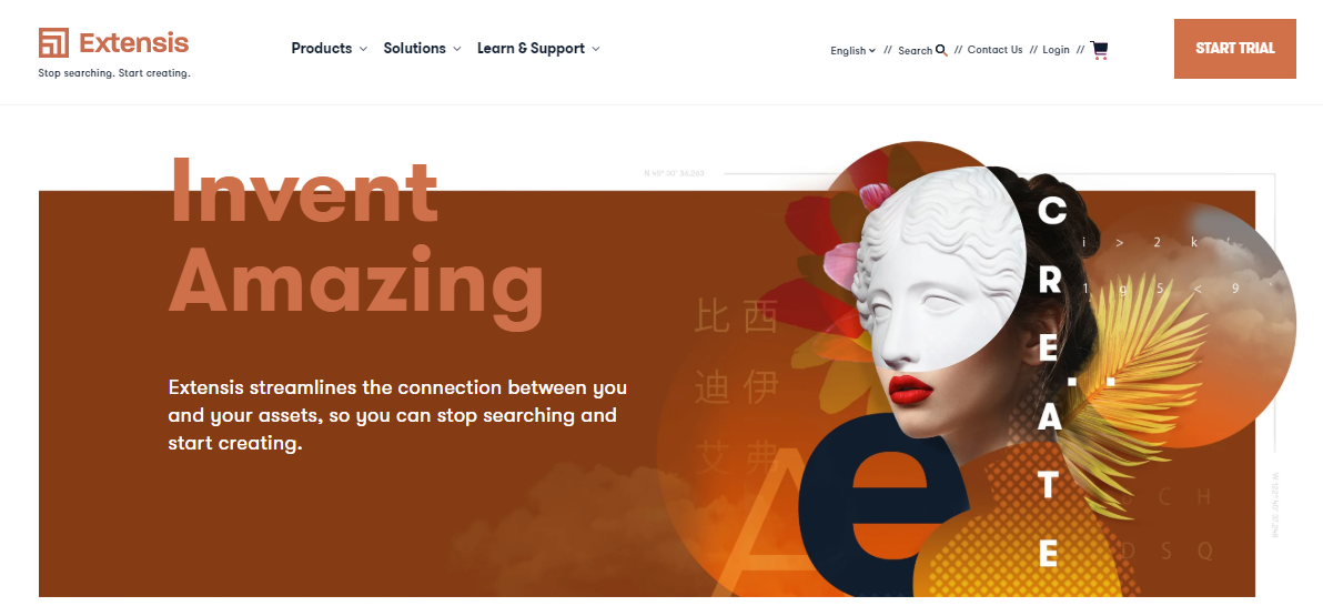 Extensis' website homepage