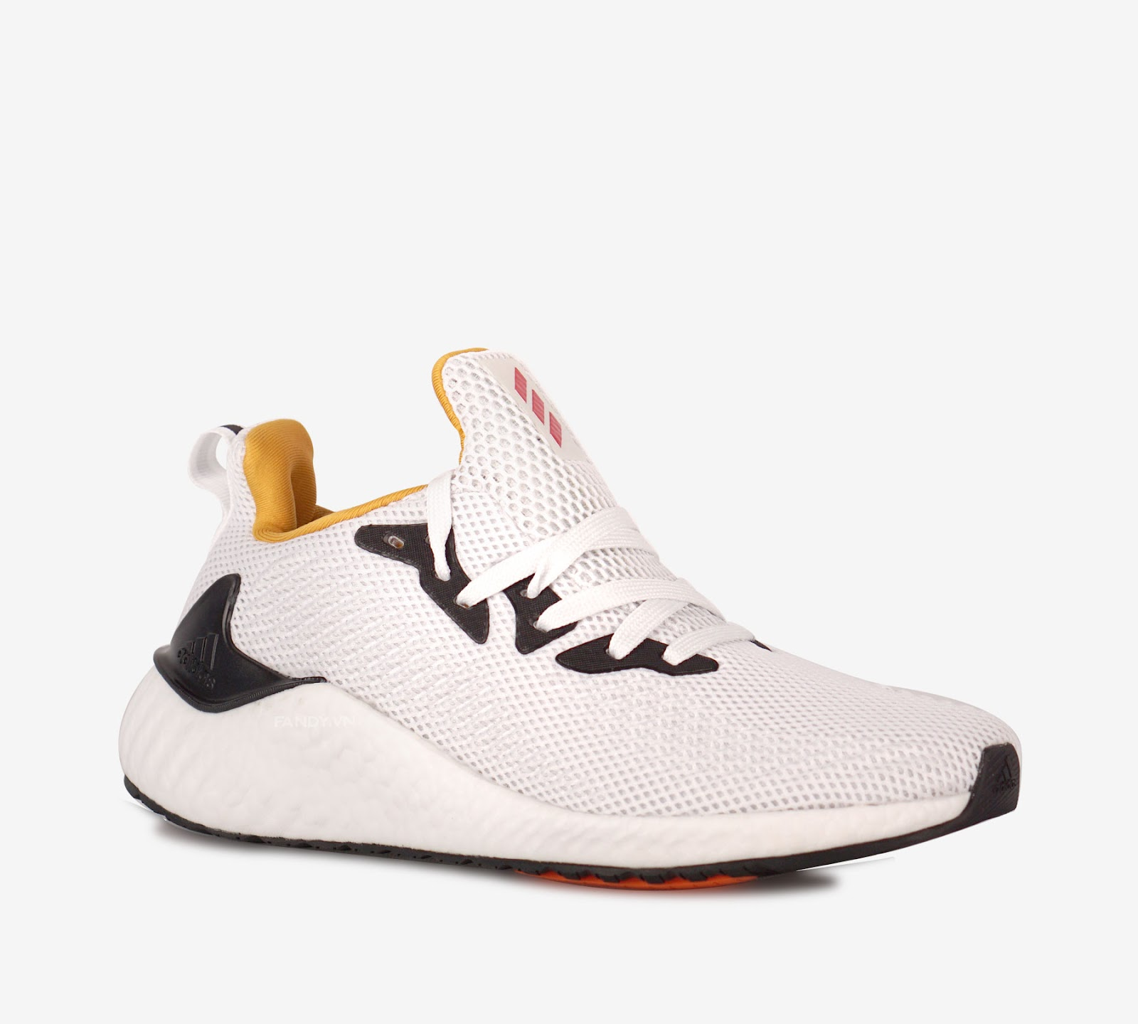 Giày Adidas Alphaboost  White/Yellow