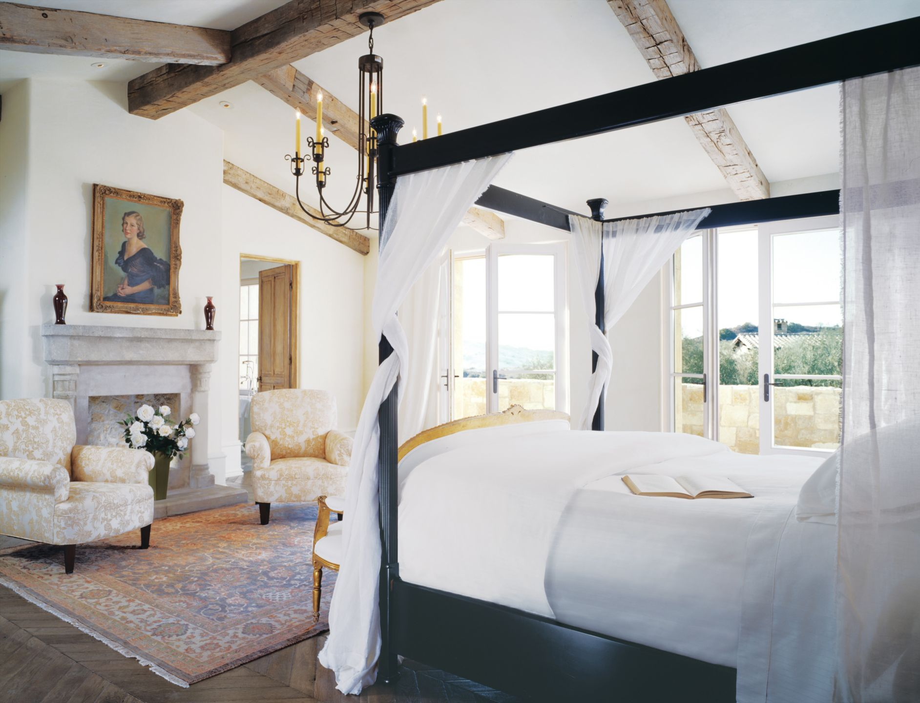 Display An Artwork Above the Bedroom Mantel