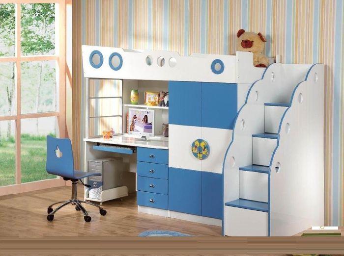 Sử dụng giường kết hợp bàn học giúp tối ưu diện tích phòng ngủ