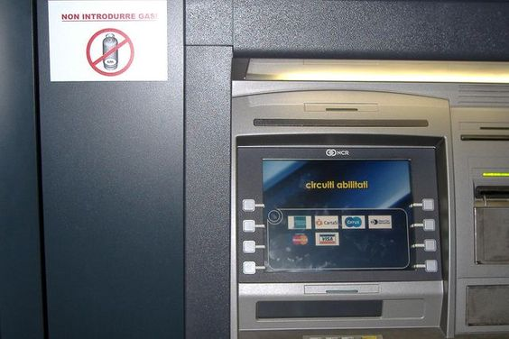 Automatic teller machine. Source: Pinterest.  Infrared vs Projected Capacitive - Rev Interactive