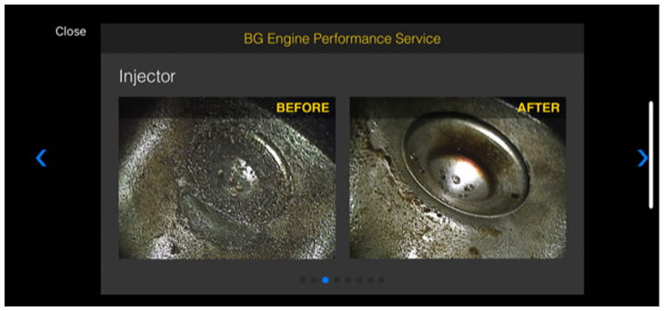 advisor app with the BG Engine Performance Service before and after