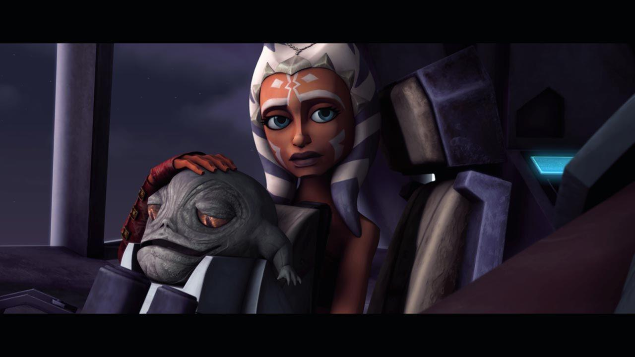The Clone Wars movie, Ahsoka with the son of Jabba the Hut. | Ahsoka, Star  wars clone wars, Star wars characters