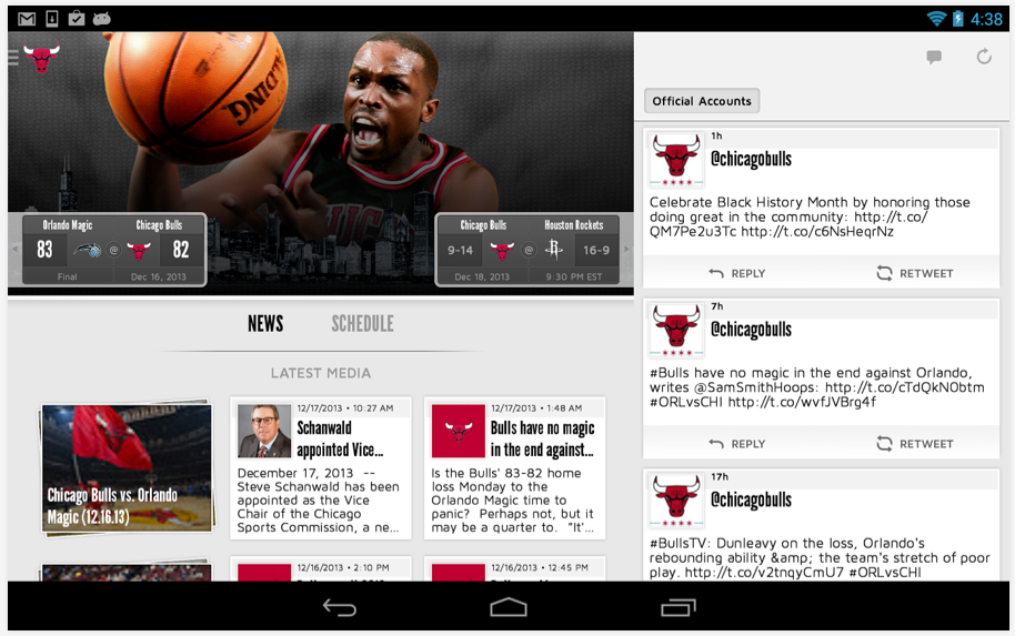chicago bulls mobile app