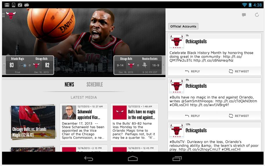 chicago bulls mobile app