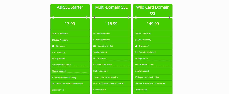 askssl ssl prices